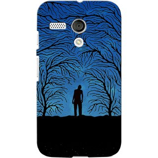 G.store Printed Back Covers for Motorola Moto G Blue