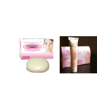 Clearwin soaps for spots acne  oily skin(set of 5 pcs.)+ Clearwin gel(set of 2 pcs.)