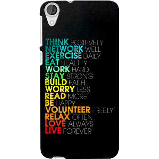 G.store Printed Back Covers for Htc Desire 820 Multi