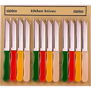 Stainless Steel Knife Set  Set Of 12