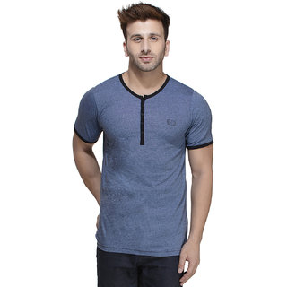 Rigo Men's Blue Round Neck T-Shirt