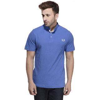 Rigo Men's Blue Round Neck T-Shirt