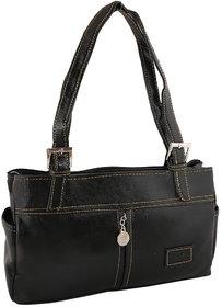 Sukkhi Unique Black Shoulder Handbag