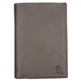 Kara Mens Wallet 9039 Brown Passport Holder