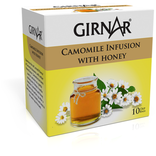 Girnar Camomile Infusion With Honey (10 Tea Bags)
