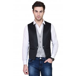 Siyarams Mens Bodycare Fabric Plain Waist Coat