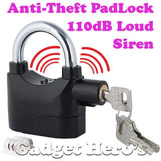 Gadget Heros Details about Anti Theft Burglar Pad Lock Alarm Security Siren Home Office Bike Bicycle Shop