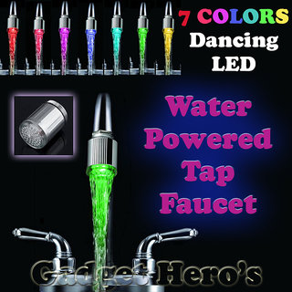 Gadget Heros 7 Color CHanging Led Tap Faucet Glow for Bathroom Kitchen Auto Water Powered