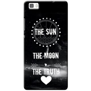 G.store Printed Back Covers for Huawei P8 lite Black