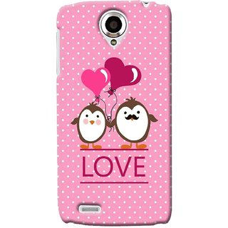G.store Printed Back Covers for Lenovo S820 Pink