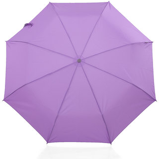 The Modern Ape - 3 Fold All Matching pongee plain umbrella - Purple MATCH-PU