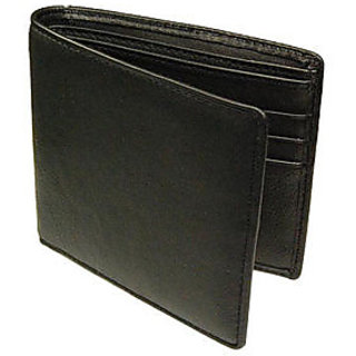 Black Leather Wallet For Men (Synthetic leather/Rexine)
