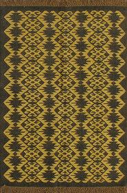 Rugsville Dhurrie Modern Multi Wool Handmade 13619 4x6 Rug