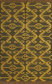 Rugsville Dhurrie Southwestern Multi Wool Handmade 13646 5x8 Rug