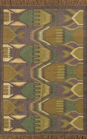 Rugsville Dhurrie Southwestern Multi Wool Handmade 13670 4x6 Rug