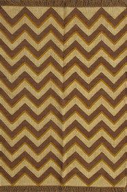 Rugsville Dhurrie Modern Multi Wool Handmade 13683 4x6 Rug