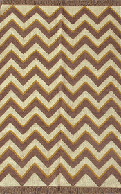 Rugsville Dhurrie Modern Multi Wool Handmade 13734 4x6 Rug