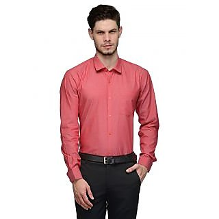 Canary London Pink Mens Slim Fit Formal Shirt