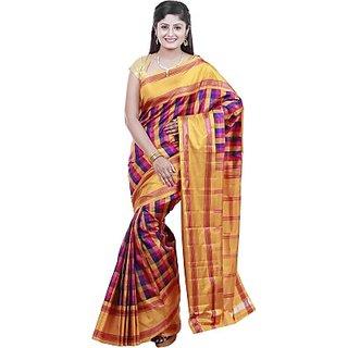 Bommannas sarees Woven Kanjivaram Handloom Pure Silk Sari