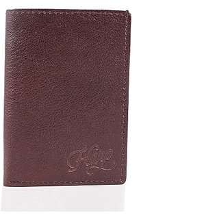 Harp Men Boys Girls Women Brown Genuine Leather Wallet         (3 Card Slots) Essen-Harp