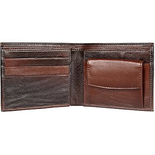 Harp Men Brown Genuine Leather Wallet         (4 Card Slots) Hurth Wallet