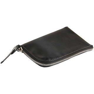 Harp Men Black Artificial Leather Wallet         (4 Card Slots) Panama Techno