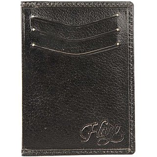 Harp Men Black Genuine Leather Wallet         (4 Card Slots) Peitz Wallet