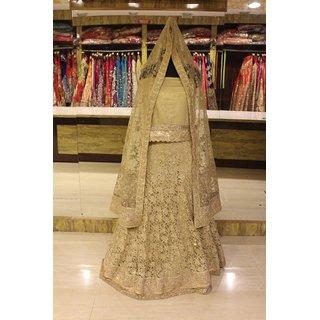 Bollywood Designer Wedding Lengha Choli Gold