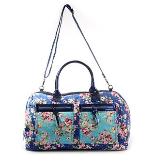 Harp Hand-Held Bag         (Blue) Flowercious Weekender Bag