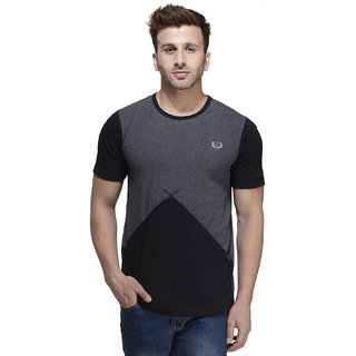 Rigo Men's Black Round Neck T-Shirt