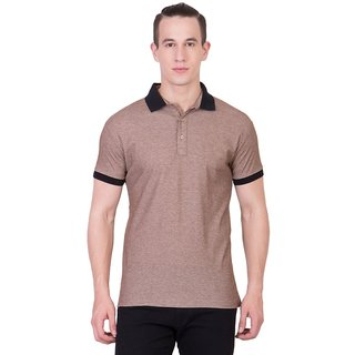 Cliths Mens Dark Grey Cotton Polo T-Shirt HS-143-DGrey