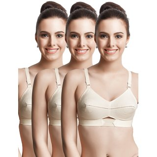 bbdbb93ab6 Buy Libertina Duchess S.S. Non Wired Full Coverage Bra With Elastic Strap.( Pack of 3) Online   ₹930 from ShopClues