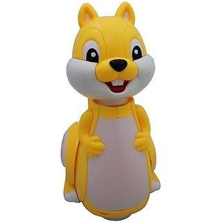 Littlegrin Cartoon Squirrel Swing Light Bump  Go Action Toy (Multicolor)
