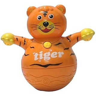 Littlegrin Musical Roly Poly Tiger With Projector Lighting Gift Toy For Toddlers Infants Kids ... (Multicolor)