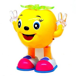 Littlegrin Musical Cartoon Dancing  Walking Pineapple With Colorful Lights Gift Toy For Kids (Multicolor)