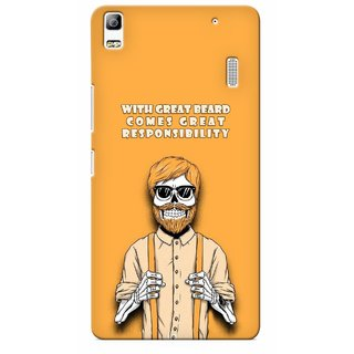 G.store Printed Back Covers for Lenovo A7000 Yellow