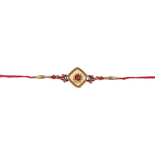Shining Jewel Traditional Rakhi (Box included) - 2015 Collection (SJR54)
