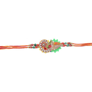 Shining Jewel Traditional Rakhi (Box included) - 2015 Collection (SJR111)