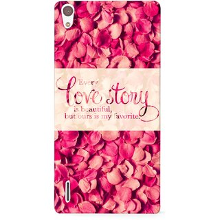 G.store Printed Back Covers for Huawei Ascend P7 Red