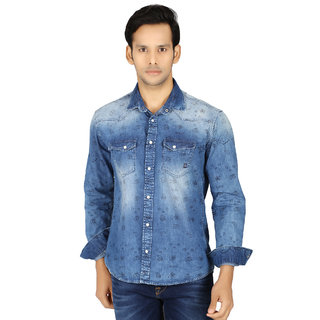 Killer Cotton Slim Fit Solid Casual Shirts For Men