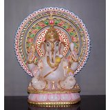 """Marble Statue Of Lord Ganesha 12"""""""
