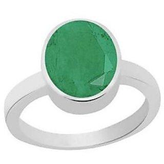 MANGLAM RAJ RATAN 5.75 Ratti Precious Emerald Gemstone Ring in Silver