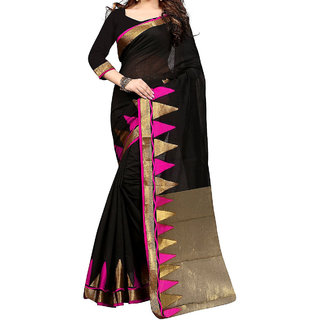 Girija Traders Black Color Womens Party Wear Saree With Blouse And Pallu