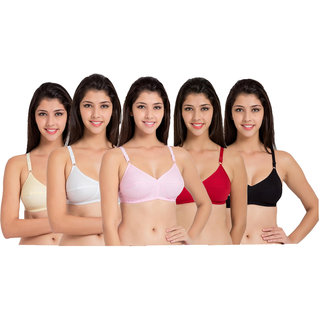 Women fashion pack of 5 bra