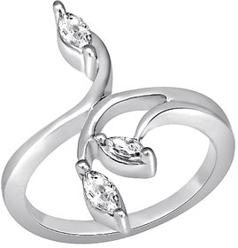 White Cubic Zircon in Silver925 - R525001G