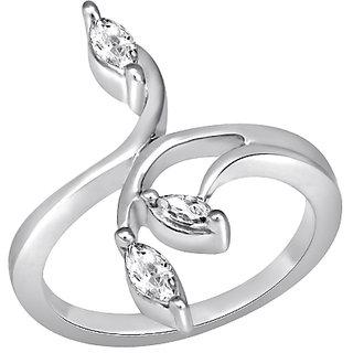White Cubic Zircon in Silver925 - R525001G