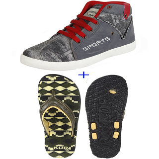 Oricum COMBO Pack of Casual Shoes with Slipper Flip Flop