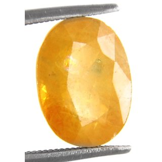 GEMS STONE BAZAR  Natural 5.00 Ratti  Certified Pukhraj Stone