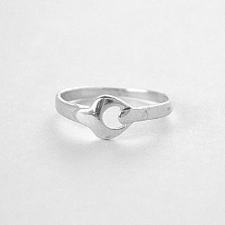 Silver with oxidised ring to be touched by nature, is to infuse the spirit with life.