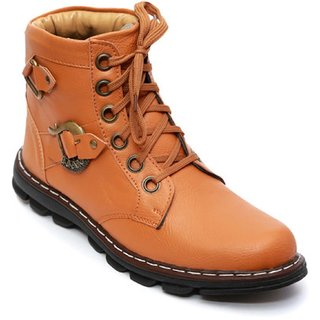 Wonker Men's Tan Lace-up Boots